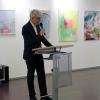 """Andreas Koch, Erster Bürgermeister von Filderstadt, begrüßt die Gäste der Jahresausstellung des Vereins """"Künstler der Filder e.V."""""""