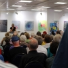 Sabine Schäfer-Gold eröffnet die sehr gut besuchte Jahresausstellung der Künstler der Filder.
