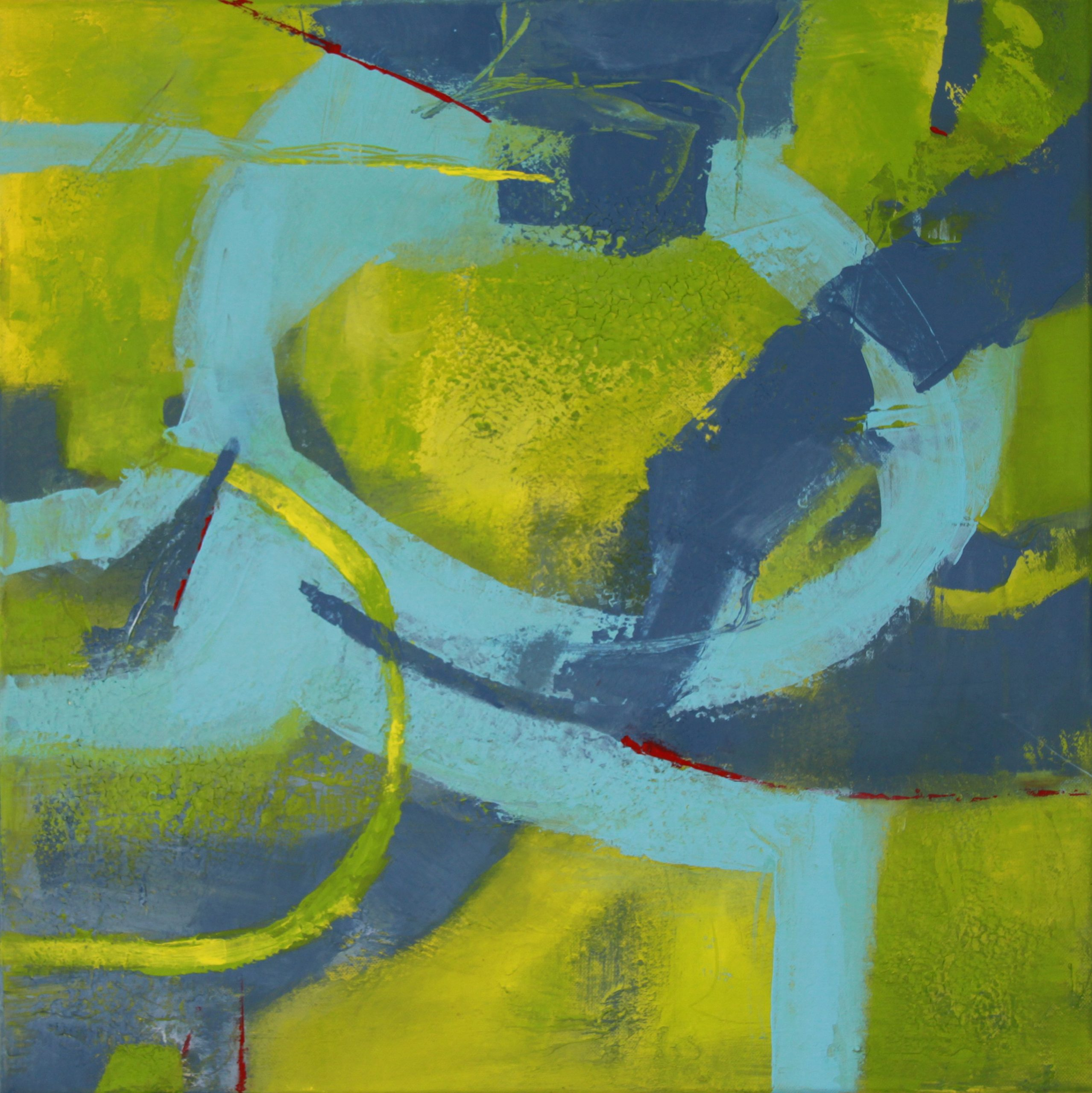 Ramona Merkl: Blickwinkel, Marmormehl mit Acryl, 50 x 50 x 1,5 cm