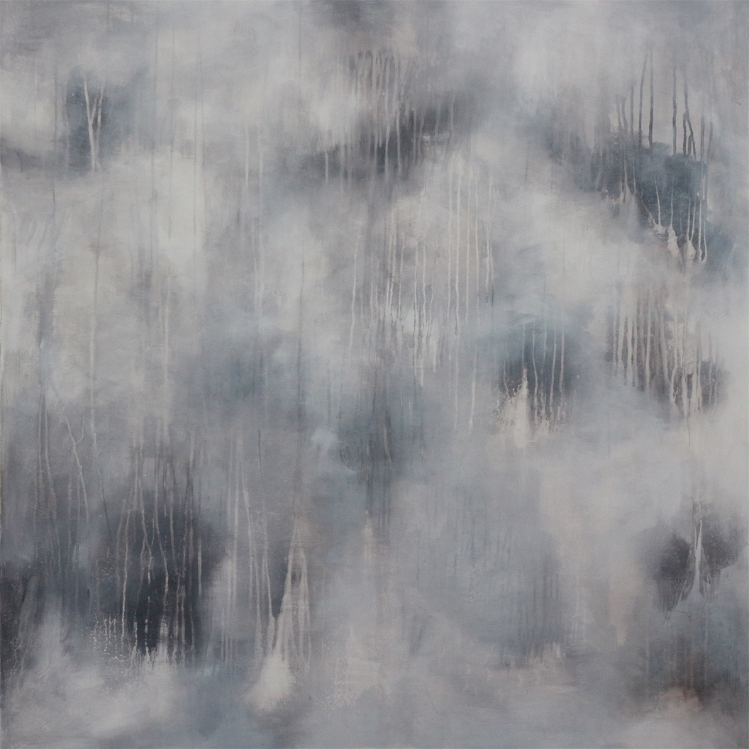 Michael Schmidt: Desert Rain, Acryl auf Leinwand, 120 x 120 x 4,5 cm