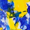 Margarete Baur: Ohne Titel, Acryl auf Leinwand, 120 x 40 cm