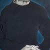 Catherine Bernhardt: Le passagé, Chinesische Malerei auf Reispapier, Gongbi, 120 x 38 cm