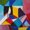Karl Jirikovsky: Komposition 2020-5, Acryl auf Leinwand, 100 x 120 cm