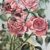 Philipp Kompalla: Edelrosen I 2021, Aquarell auf 100g Ingres, 49 x 32 cm