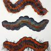 Ulrike Saremba: Raupentanz, Japanpapier, geschnitten, je 25 x 65 cm