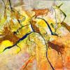 Hannelore Schulz: Hommage an die Höhlenmalerei, Acryl, Tusche und Sand, 60 x 80 cm