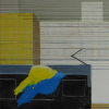 Petry Seidel: Ohne Titel, Pigmente und Malmittel auf Leinwand, 100 x 50 cm