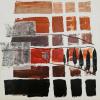 Edith Fiedler: Toskana, Acryl / Collage, 70 x 70 cm