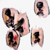 Petra Friedrich: fremd, Tusche auf Japanpapier, 60 x 50 cm