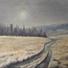 Fredi Hügel: Corona, Öl auf Leinwand, 50 x 60 cm