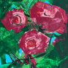 Astrid Meinert: flowers of love, Acrylmalerei, 30 x 25 x 5 cm
