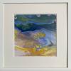 Ramona Merkl: Am Strand, Pouring, 30 x 30 cm, gerahmt