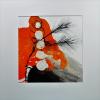 Traudel Spreter: Seiden - Kiefer, Tusche/Wachs, 60 x 60 cm