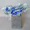 Elke Steiger: Aufbruch, Keramik, Rakubrand, Glas, Glassfusing, 29 x 36 x 9 cm