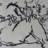 Albrecht Weckmann, Susanna im Bade, Kohlezeichnung auf Karton, 50 x 80 cm
