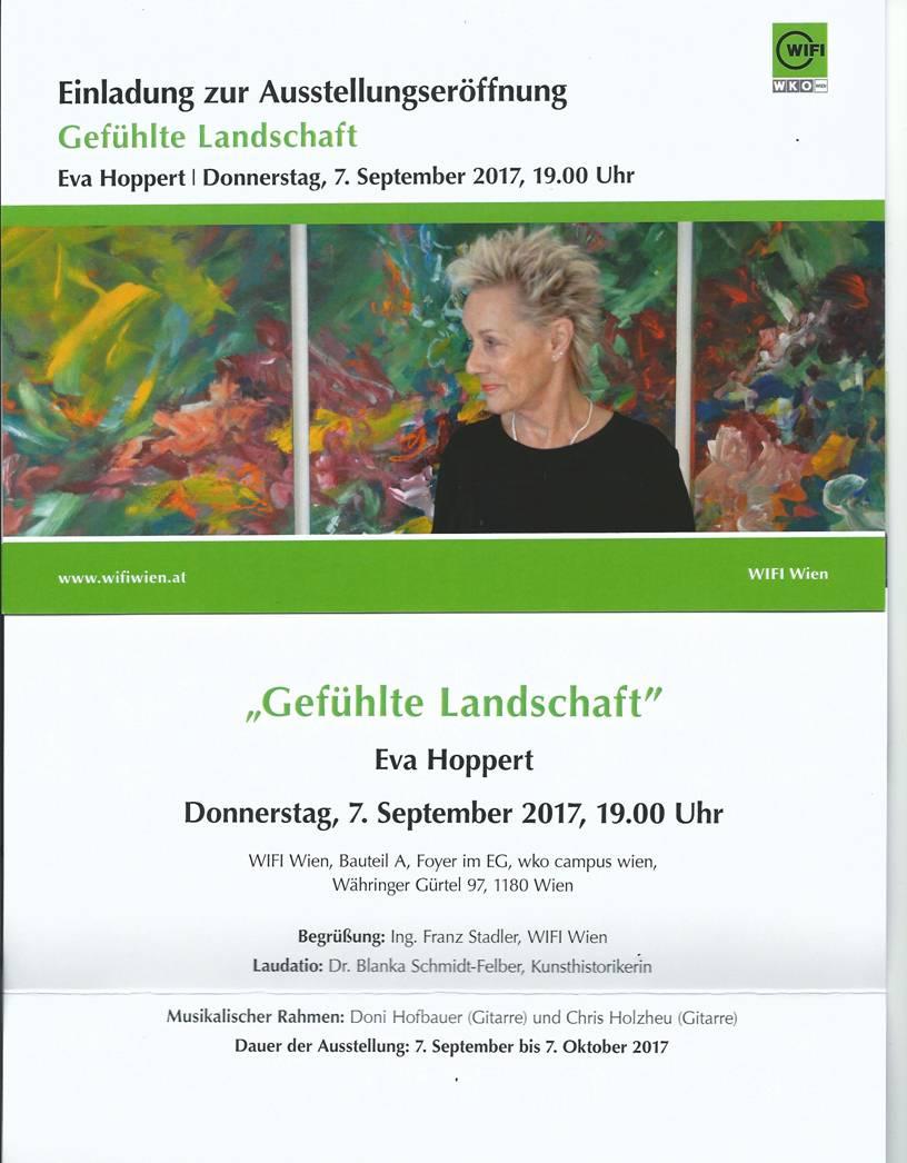 Eva Hoppert | Einladung Ausstellung Gefühlte Landschaft | Wien
