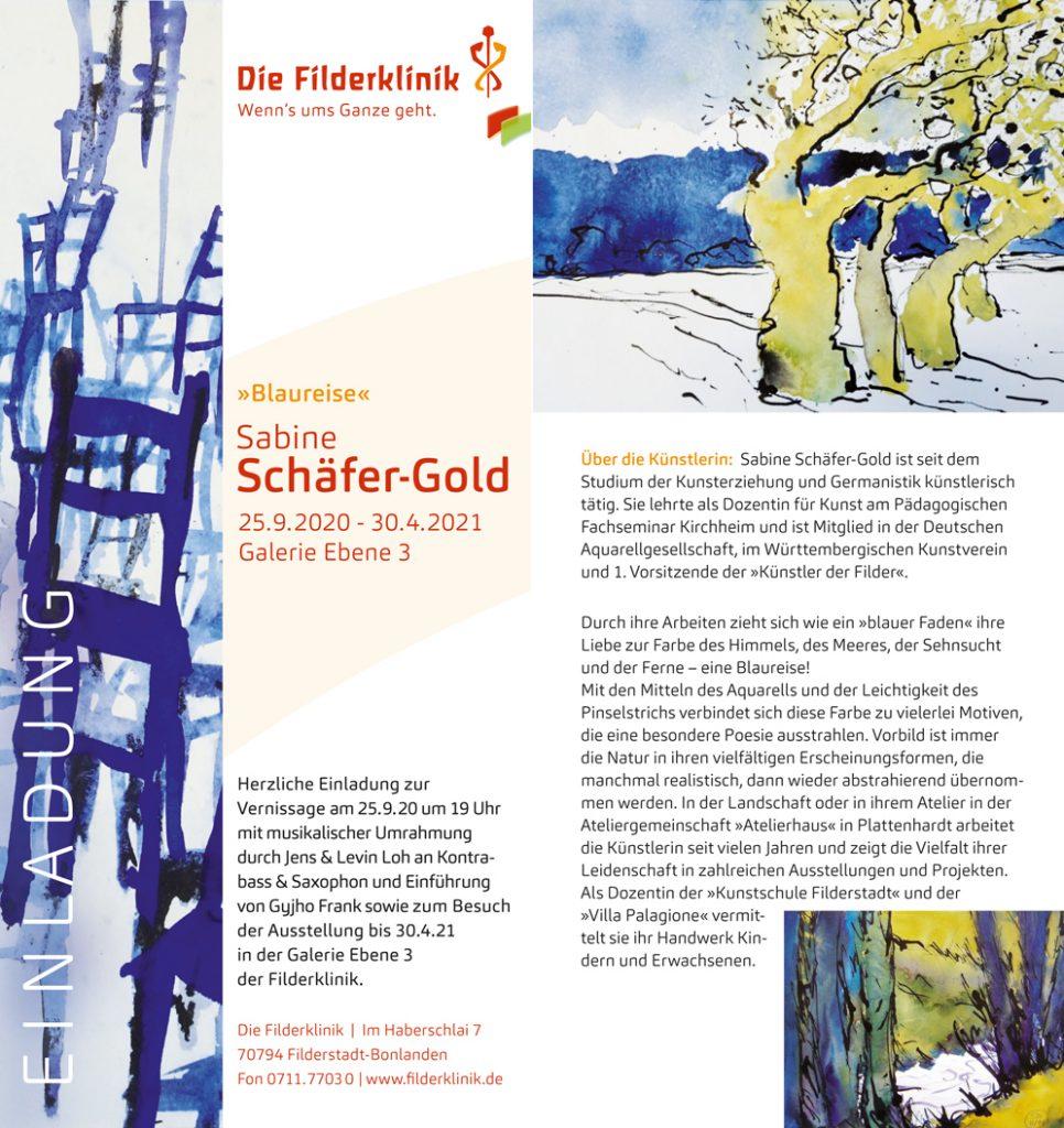 Sabine Schaefer-Gold | Blaureise | Einladung